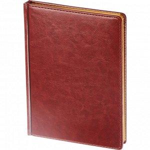 Ежедневник недатированный коричнев,А5,145х205мм,136л, Sidney NEBR...