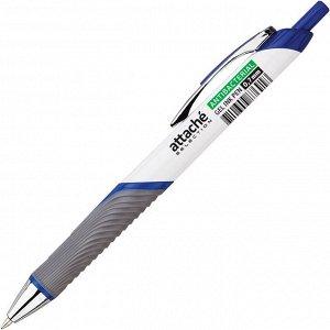 Ручка гелевая Attache Selection антибактер.мет.клип 0,7мм,синий