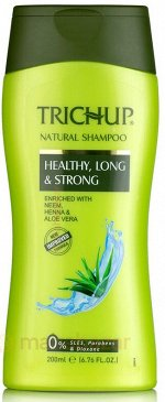 Шампунь для волос Тричуп Trichup Herbal Shampoo Healthy, Long & Strong, 200 ml, Vasu