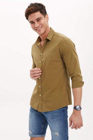 рубашка Размеры модели: рост: 1,88 грудь: 98 талия: 80 бедра: 98 Надет размер: M  Хлопок 100%