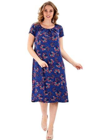 Платье Идеальная модель для тех, кто и дома хочет выглядеть на все сто. Продуманный крой и выразительный дизайн подчеркивают женственность и достоинства фигуры, а качественная ткань (состав: Вискоза 1