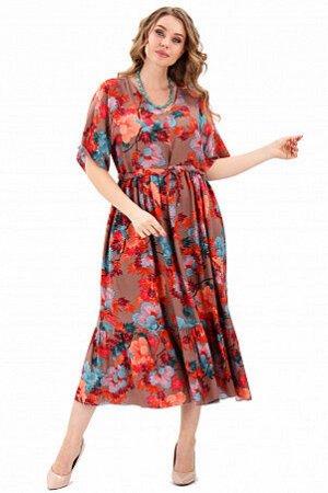 Платье Продуманный крой и выразительный дизайн подчеркивают женственность и достоинства фигуры, а качественная ткань (состав: Штапель- вискоза 100%) обеспечивает максимальный комфорт. Одежда характери