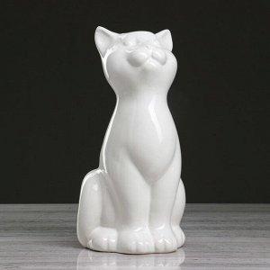"""Ваза настольная """"Кошка"""". белая. 25 см. керамика"""