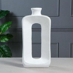 """Ваза напольная """"Мюзле"""", цвет белый, 41 см, керамика"""