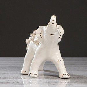 """Статуэтка """"Слон"""". белая лепка. микс"""