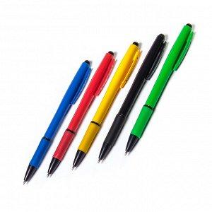 """Ручка шариковая синяя Alingar """"Sword"""", 0,7 мм, автоматическая, резиновый грип, корпус ассорти, (40 шт) в пластиковой упаковке"""