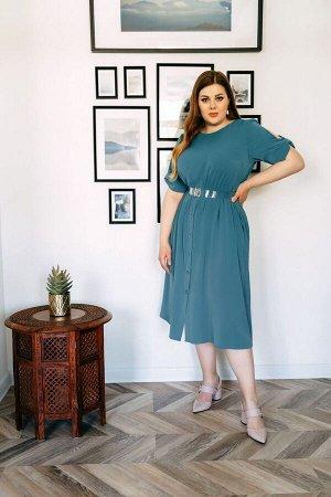 Платье Платье Temper 341 №1  Состав ткани: ПЭ-97%; Спандекс-3%;  Рост: 164 см.  Платье свободного силуэта состоящее из двух частей с нагрудными выточками и с резинкой по талии, с центральной планкой