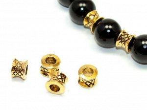 Бусины металл Разделители золотистые. 7 мм.  Цена за 1 шт.