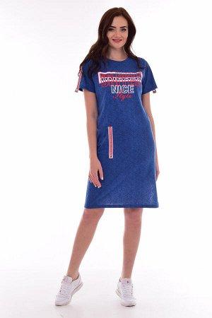 Платье женское 4-073 (синий)
