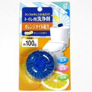 """""""Okazaki"""" Очищающая и дезодорирующая таблетка для бачка унитаза (с ароматом апельсина) 100гр"""