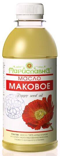 Масло Мака семян нерафинированное (пищевое качество)