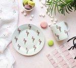 Набор посуды Розовый фламинго