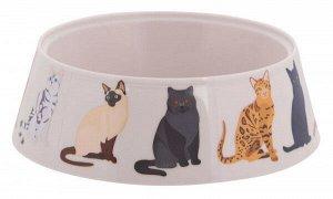 Миска Cats пластиковая для кошек 0,3л