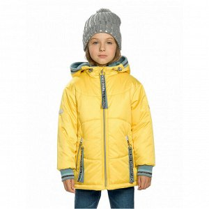 Куртка для девочек, рост 110 см, цвет жёлтый