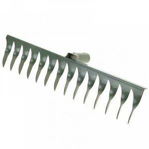 Грабли витые 14 зубые 48см, s2мм, металл, без черенка, тулей