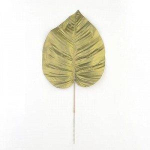 Лист зелени Пальмы золото 20х33см