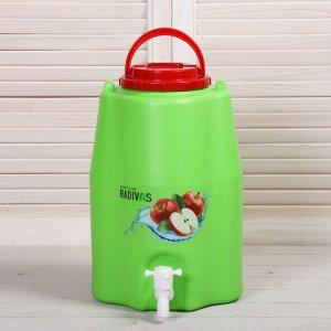 Канистра-умывальник пищевой, 10 л, зелёный