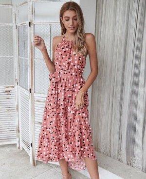Женский сарафан, розовый