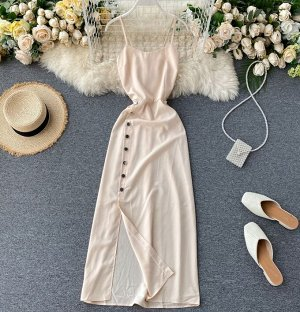 Платье, абрикос