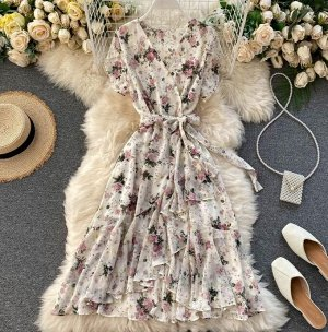 Платье на запах, абрикос