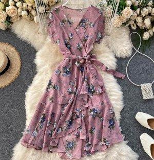 Платье на запах, розовый