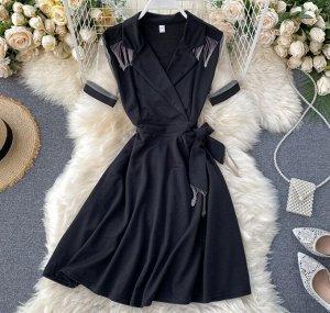 Платье M Длина 86 см, рукав 20 см, талия 64 см (44р) L Длина 87 см, рукав 21 см, талия 68 см (46р)