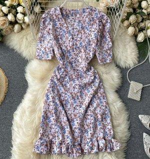 Платье, сине-розовый