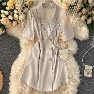 Платье- пиджак, абрикос
