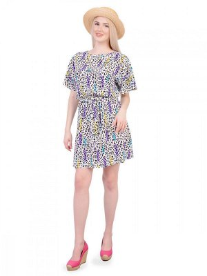 Платье МПШ 472 Платье штапель отрезное по талии с поясом,рукав цельнокроеный с разрезом 40-54   Доступно к заказу при нулевом остатке