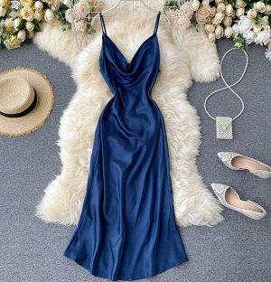 Платье,синий