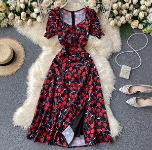 Платье Рекомендации по размеру: длина 114 см, рукав 25 см,талия 64-66 см (42-44р)