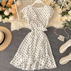 Платье на запах,белый