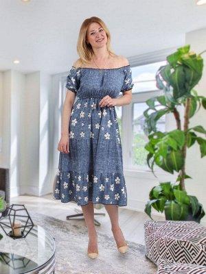 Платье Селена цветы
