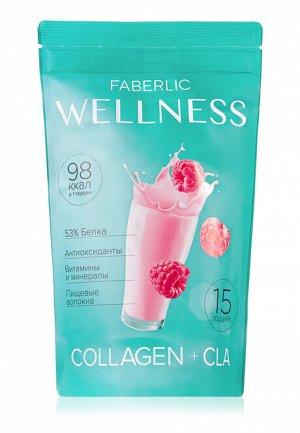 Протеиновый коктейль Wellness с коллагеном и CLA. Вкус: малина