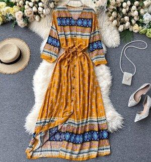 Платье,желтый