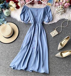 Платье,голубой