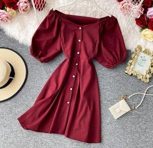 Платье, бордо
