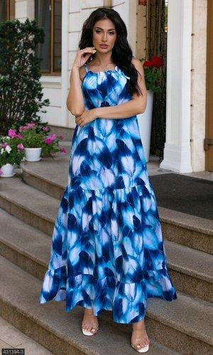 Платье 431394-3 синий Лето Украина