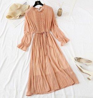 Шифоновое платье,беж