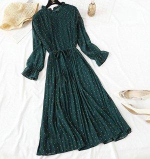 Шифоновое платье,зеленый