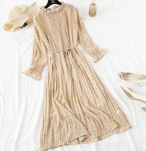 Шифоновое платье,абрикос
