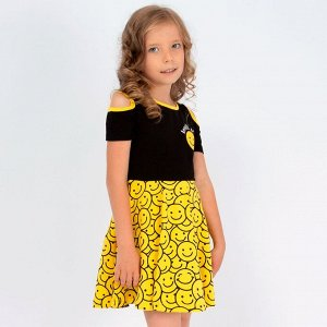 Сарафан Соль&Перец подростковый для девочки/Цвет: черный-желтый
