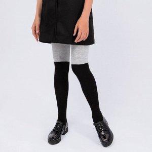 Колготки Соль&Перец для девочки черный-серый меланж