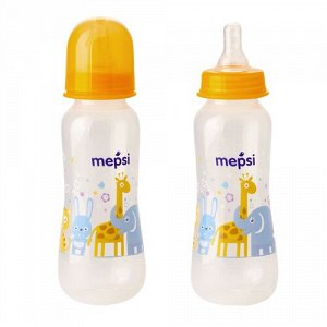 Бутылочка для кормления с силиконовой соской  MEPSI, 250 мл, 0+ (0205)