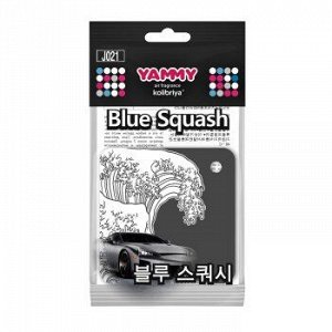 """Ароматизатор подвес. YAMMY картон с пропиткой Квадрат """"Blue Squash"""" (1/200)"""