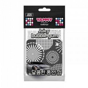 """Ароматизатор подвес. YAMMY картон с пропиткой Квадрат """"Bublble Gum"""" (1/200)"""