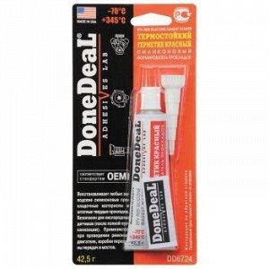 """Герметик прокладка """"DoneDeal"""" термост. силиконовый, Красный 42.5гр."""