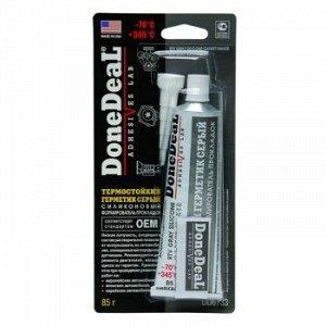 """Герметик прокладка """"DoneDeal"""" термост. силиконовый, Серый 85гр"""