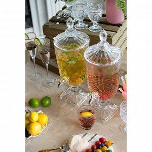 Банка 77276 для лимонада с крышкой стекло