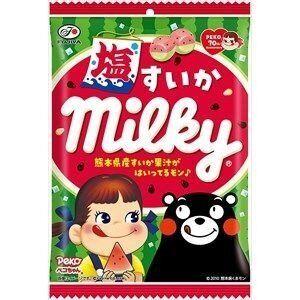 """Молочные ириски """"Milky"""" соленый арбуз  80 гр. 1/6/48 /Япония/"""
